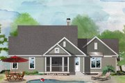 Ranch Style House Plan - 3 Beds 2 Baths 1641 Sq/Ft Plan #929-1067 Exterior - Rear Elevation