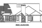 European Style House Plan - 4 Beds 3 Baths 2609 Sq/Ft Plan #17-208 Exterior - Rear Elevation
