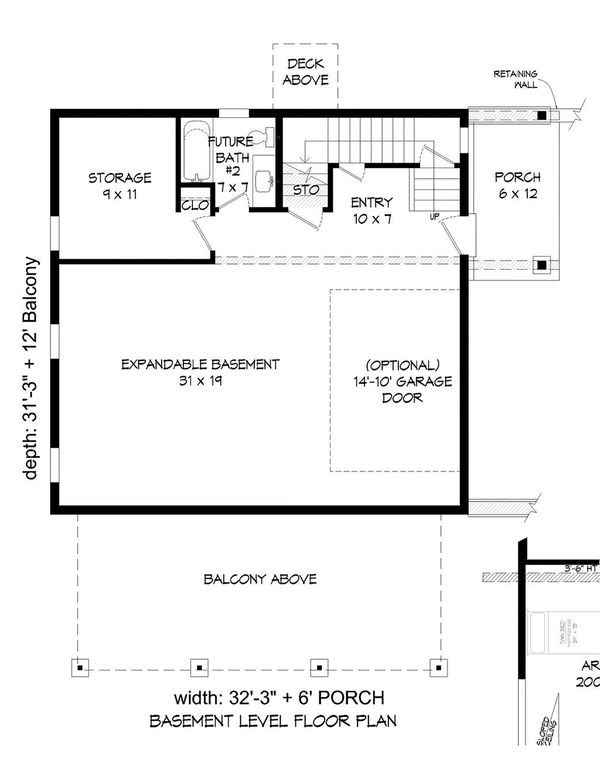 Architectural House Design - Country Floor Plan - Lower Floor Plan #932-380