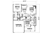 Traditional Floor Plan - Main Floor Plan Plan #513-2052