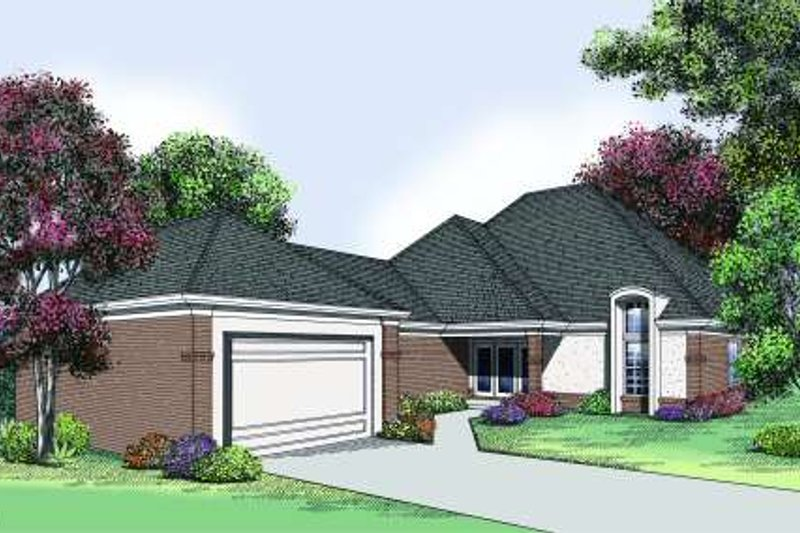 Traditional Exterior - Front Elevation Plan #45-305