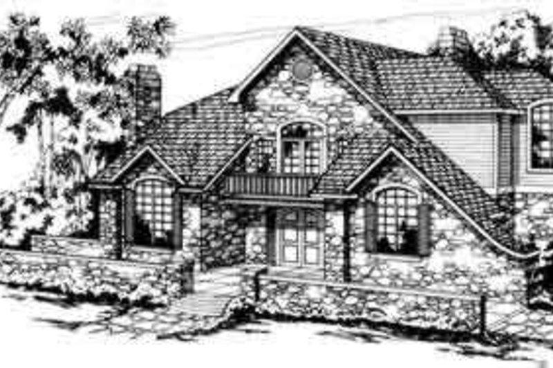 Dream House Plan - European Exterior - Front Elevation Plan #124-142