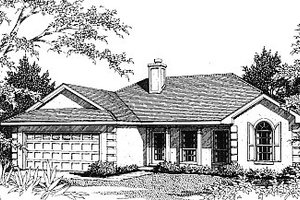 Home Plan - Mediterranean Exterior - Front Elevation Plan #14-130