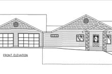 Architectural House Design - Craftsman Exterior - Front Elevation Plan #117-883