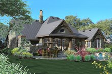 Dream House Plan - Craftsman Exterior - Rear Elevation Plan #120-175