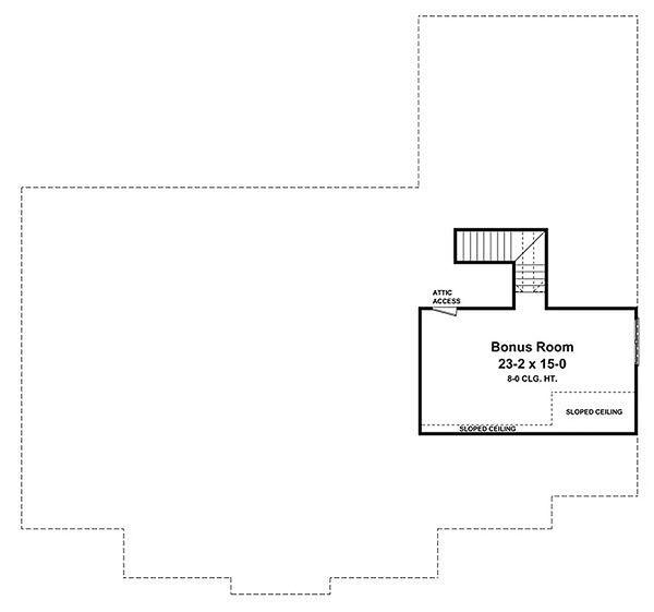 Country Floor Plan - Upper Floor Plan Plan #21-299