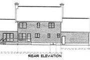 Colonial Style House Plan - 3 Beds 2.5 Baths 2406 Sq/Ft Plan #75-135 Exterior - Rear Elevation