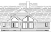 Log Style House Plan - 3 Beds 2.5 Baths 2516 Sq/Ft Plan #20-1329 Exterior - Rear Elevation