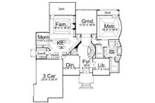 European Floor Plan - Main Floor Plan Plan #119-249