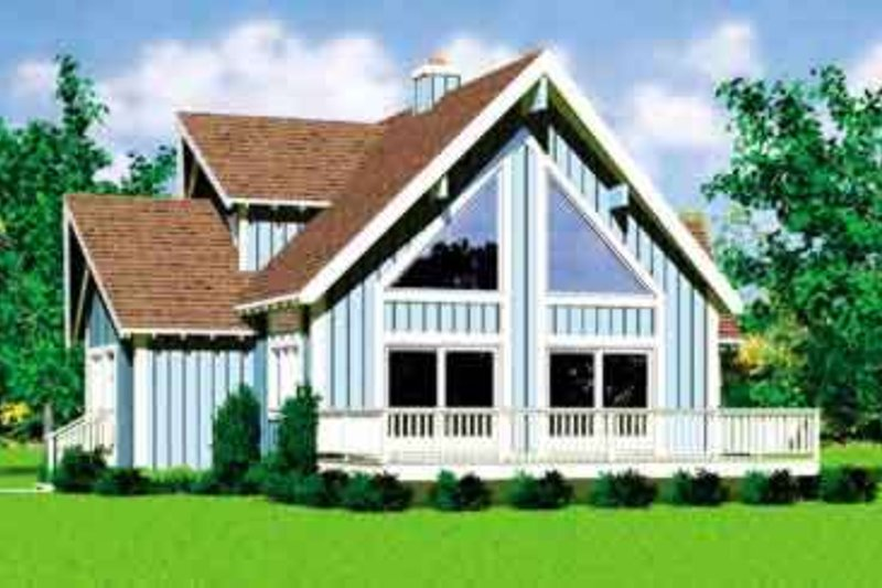 Exterior - Front Elevation Plan #72-478 - Houseplans.com