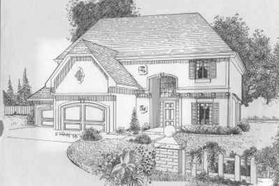 Traditional Exterior - Front Elevation Plan #6-121