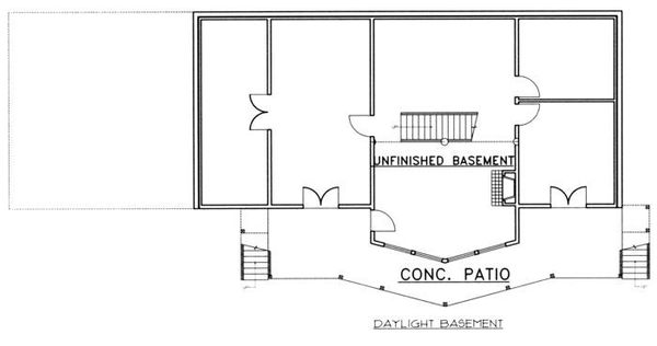 Craftsman Floor Plan - Lower Floor Plan Plan #117-472
