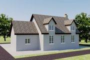 European Style House Plan - 2 Beds 1 Baths 566 Sq/Ft Plan #542-6 Exterior - Rear Elevation