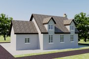 European Style House Plan - 2 Beds 1 Baths 566 Sq/Ft Plan #542-6 Exterior - Rear Elevation