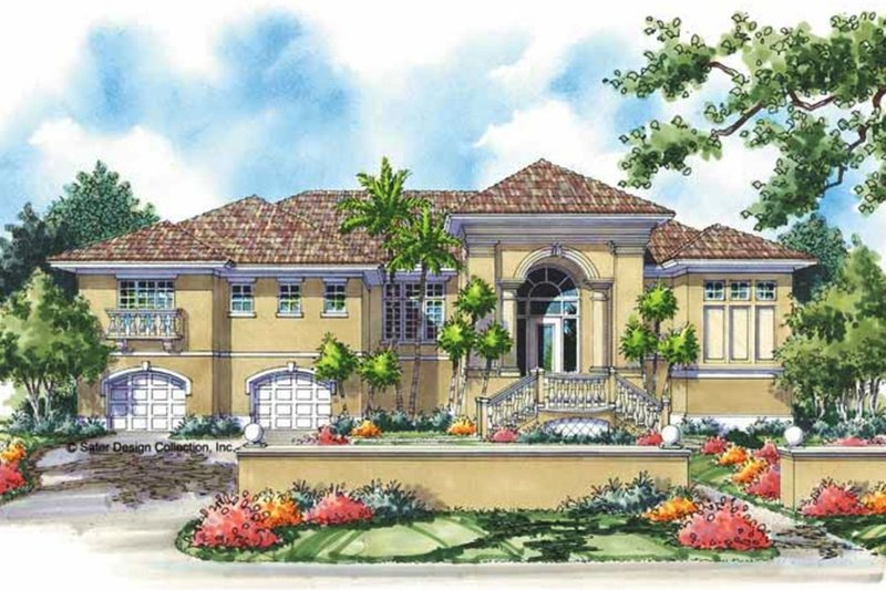 House Plan Design - Mediterranean Exterior - Front Elevation Plan #930-150
