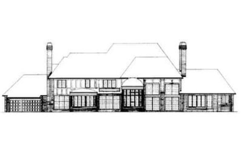 European Exterior - Rear Elevation Plan #72-209 - Houseplans.com