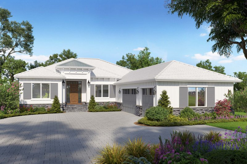 Architectural House Design - Ranch Exterior - Front Elevation Plan #938-114