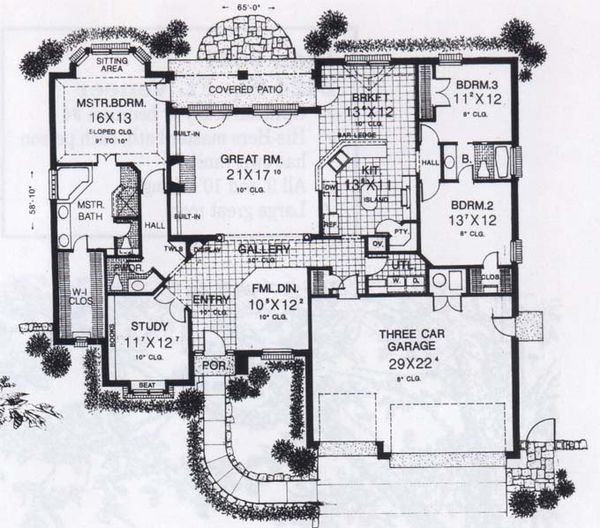 Traditional Floor Plan - Main Floor Plan #310-830