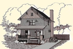 Craftsman Exterior - Front Elevation Plan #79-273