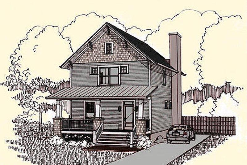 Dream House Plan - Craftsman Exterior - Front Elevation Plan #79-273