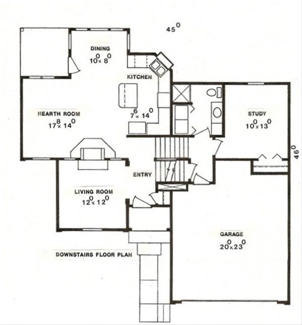 Country Floor Plan - Main Floor Plan Plan #405-140