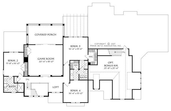 Traditional Floor Plan - Upper Floor Plan #927-993