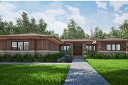Contemporary Style House Plan - 3 Beds 2.5 Baths 2344 Sq/Ft Plan #923-152 Exterior - Front Elevation