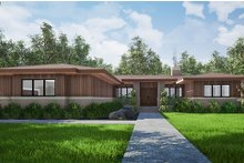 Dream House Plan - Contemporary Exterior - Front Elevation Plan #923-152
