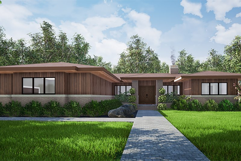 Home Plan - Contemporary Exterior - Front Elevation Plan #923-152