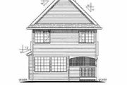 Farmhouse Style House Plan - 3 Beds 2.5 Baths 1384 Sq/Ft Plan #18-280 Exterior - Rear Elevation