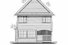 House Design - Farmhouse Exterior - Rear Elevation Plan #18-280