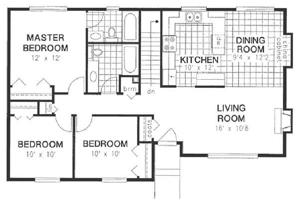 House Blueprint - Ranch Floor Plan - Main Floor Plan #18-177