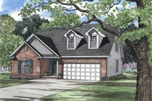 Traditional Exterior - Front Elevation Plan #17-1016