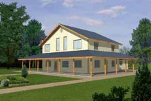 House Plan Design - Traditional Exterior - Front Elevation Plan #117-296