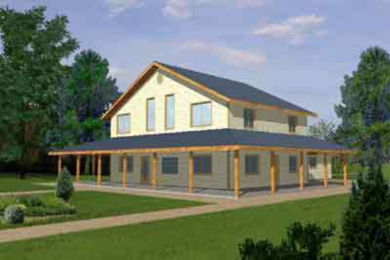 Traditional Exterior - Front Elevation Plan #117-296 - Houseplans.com