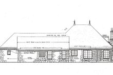 European Exterior - Rear Elevation Plan #310-650