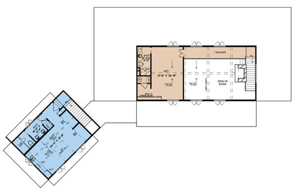 House Plan Design - Country Floor Plan - Upper Floor Plan #923-127