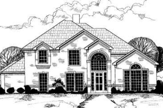 European Exterior - Front Elevation Plan #317-116