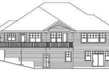 Home Plan - Traditional Exterior - Rear Elevation Plan #124-620