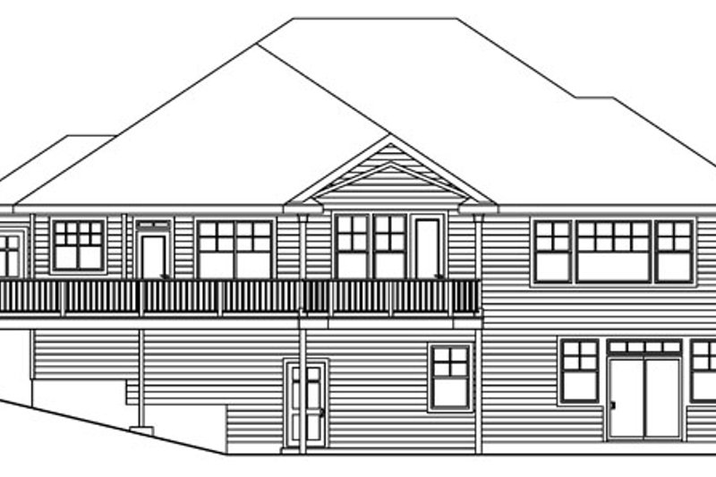 Traditional Exterior - Rear Elevation Plan #124-620 - Houseplans.com