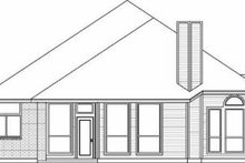 Dream House Plan - Traditional Exterior - Rear Elevation Plan #84-138