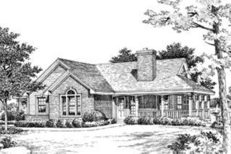 Country Exterior - Front Elevation Plan #57-188 - Houseplans.com