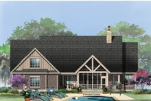 Craftsman Exterior - Rear Elevation Plan #929-14