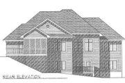 Traditional Style House Plan - 3 Beds 2 Baths 2232 Sq/Ft Plan #70-339 Exterior - Rear Elevation