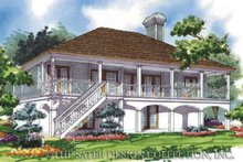 Country Exterior - Rear Elevation Plan #930-74