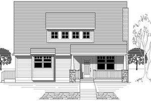 Bungalow Exterior - Front Elevation Plan #423-4