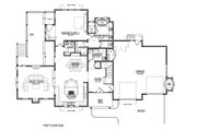 Craftsman Style House Plan - 4 Beds 2.5 Baths 3542 Sq/Ft Plan #899-1 Floor Plan - Main Floor