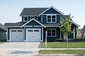 House Blueprint - Craftsman Exterior - Front Elevation Plan #1070-48