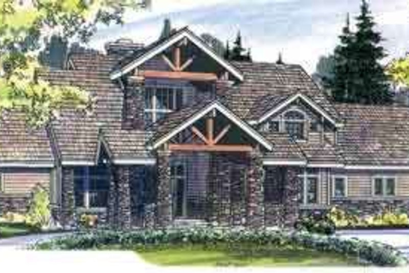 Dream House Plan - Craftsman Exterior - Front Elevation Plan #124-482