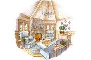 European Style House Plan - 3 Beds 2.5 Baths 2598 Sq/Ft Plan #429-37 Photo